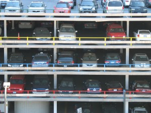 parking garage lot