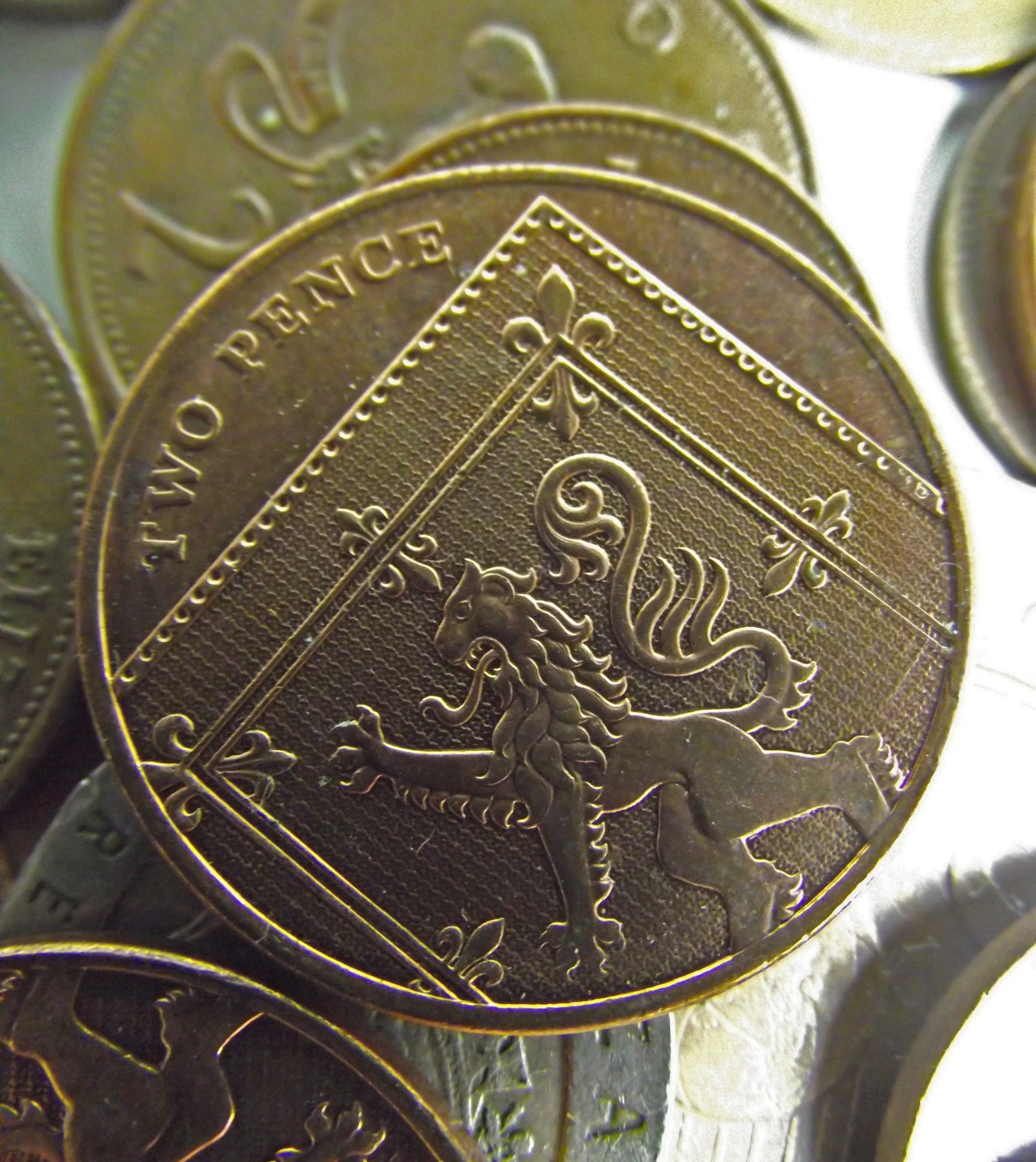 2p two 2 pence coin coins