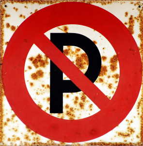 no parking sign park