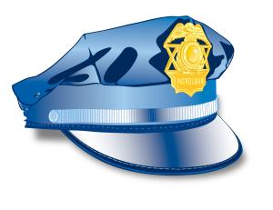 police cop hat
