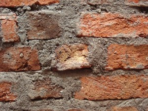 brick wall foundation