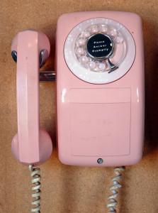 telephone phone wall rotary dial