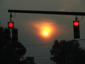 red traffic light signal
