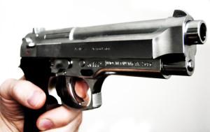 gun pulled handgun
